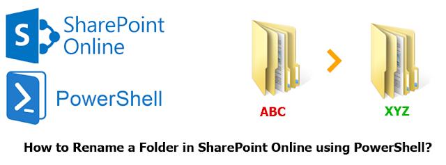 sharepoint online rename folder using powershell
