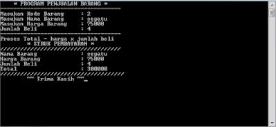 Membuat program penjualan barang sederhana C++
