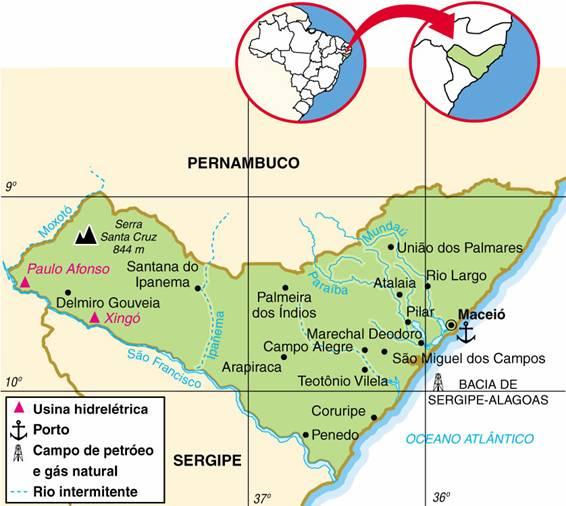 Alagoas | Aspectos Geográficos e Socioeconômicos do Estado de Alagoas