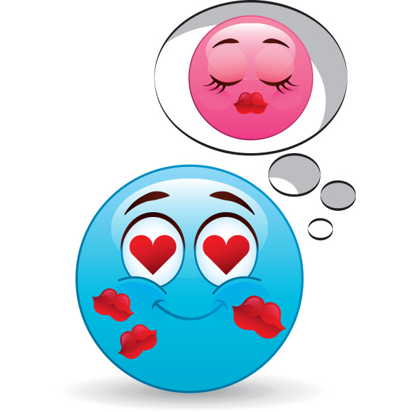 Emoji thinking of girl