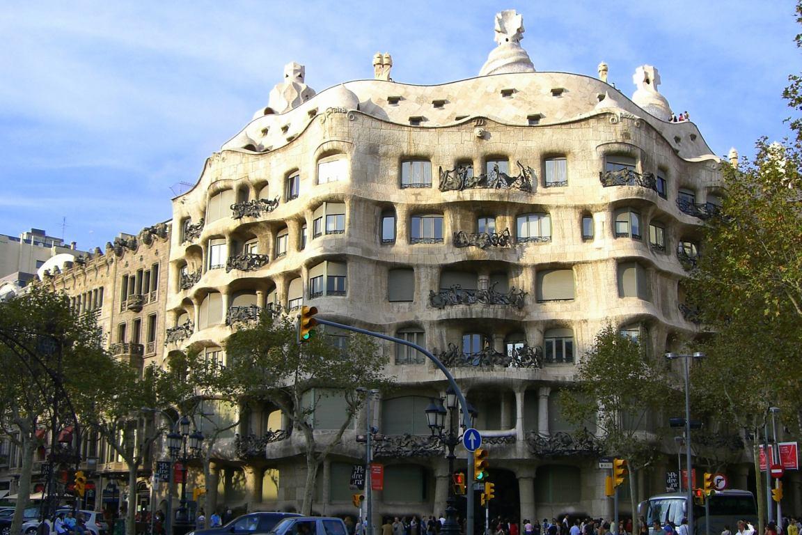 BARCELONA  MODERNISM OF GAUDI LA PEDRERA  Beautiful places of Barcelona and Catalonia