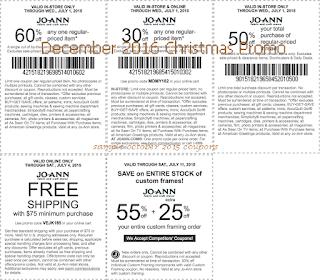 Joann coupons december 2016