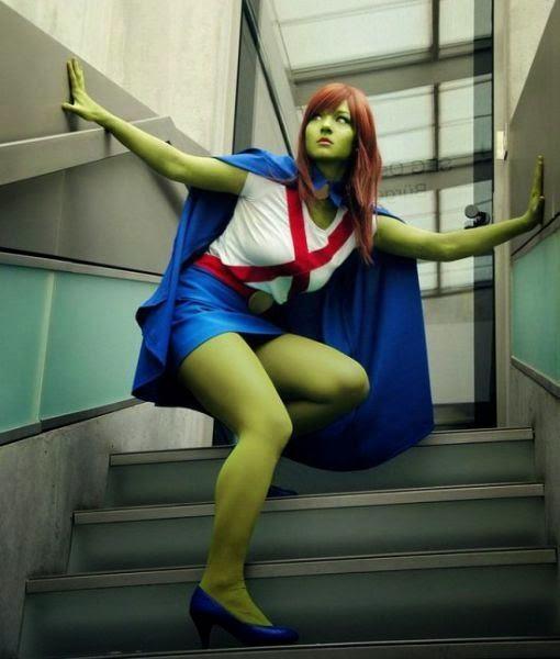 cosplay Avengers - green women