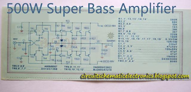 Super Bass Power Amplifier 2SC2922-2SA1216