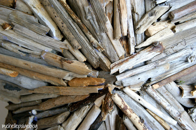 Steps to making a driftwood star.