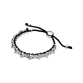 Sterling Silver & Grey Cord Skull Friendship Bracelet - Links of London - £150.00 - Jewellery Blog - Jewellery Curated