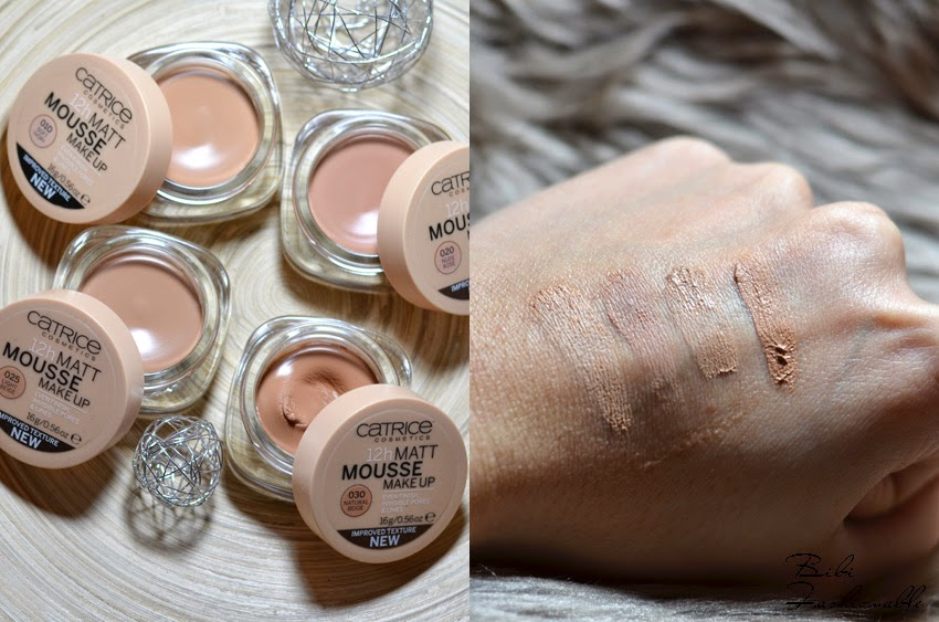 Catrice 12h Matt Mousse Make Up offen Swatches