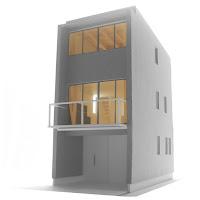 ローコストで建てるすがすがしい狭小都市型住宅
