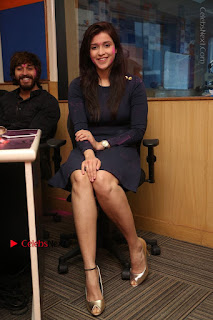 Actress Mannara Chopra Stills in Blue Short Dress at Rogue Song Launch at Radio City 91.1 FM  0066.jpg