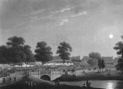 The grand fair in Hyde Park in 1814  from An Historical Memento by E Orme (1814)