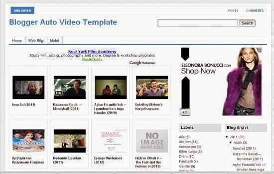 Responsive SEO Friendly Blogger Template Auto Video Template For Blogger By WebBilgi