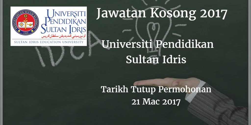 Jawatan Kosong UPSI 21 Mac 2017