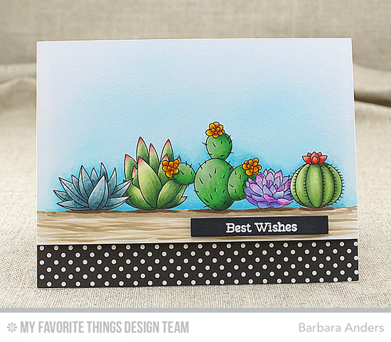 Handmade card fromBarbara Anders featuring Laina Lamb Design Sweet Succulents stamp set #mftstamps