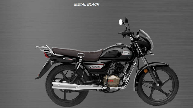 New TVS Radeon 110cc Metal Black color image