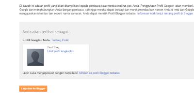 Langkah cara membuat blog di blogger