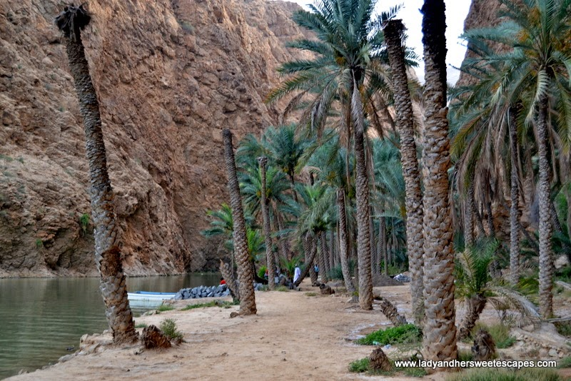 hiking area in Wadi Shab