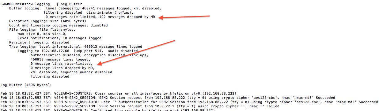 Ken Felix Security Blog: Filtering log messages on cisco