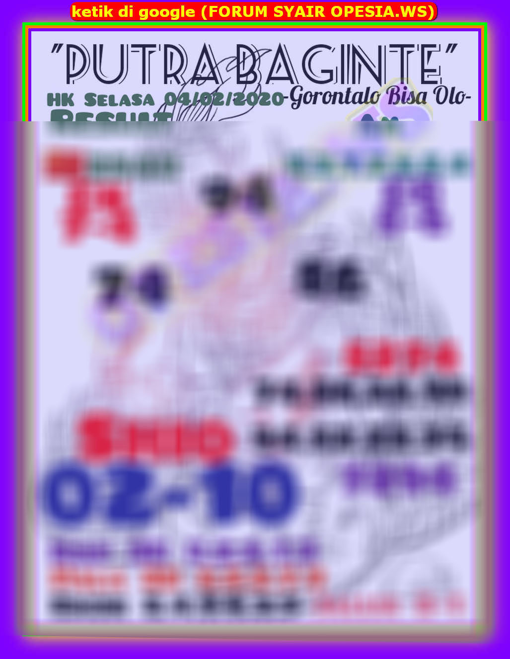 Kode syair Hongkong Selasa 4 Februari 2020 14
