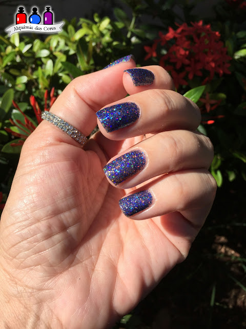 Alquimista convidada, Fairy Tale, FUN Lacquer, Glitter, Jane Iris, Azul, Holográfico,