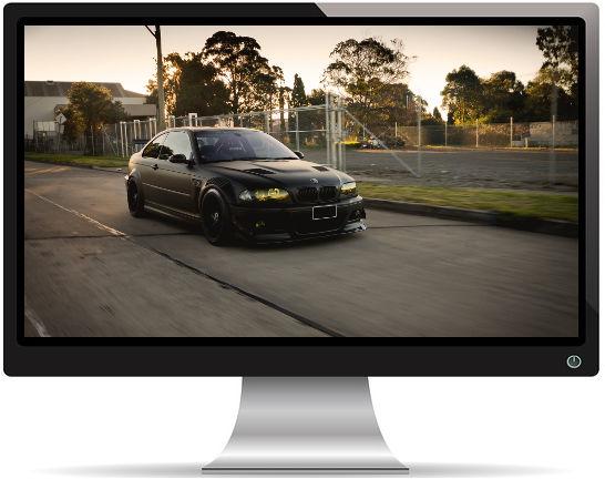 BMW Noire M3 E46 Tuning - Fond d'Écran en Full HD