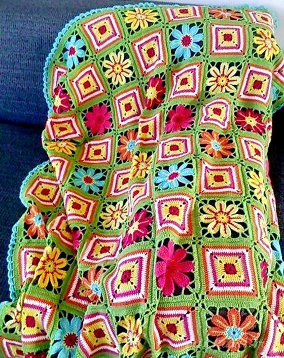 Crochet afghan - Crochet throw blanket