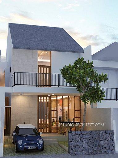 A Rumah 2 Lantai Atap Pelana 7x20m Desain Siap Pakai Kode 024