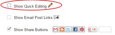 remove quick edit pencil icon