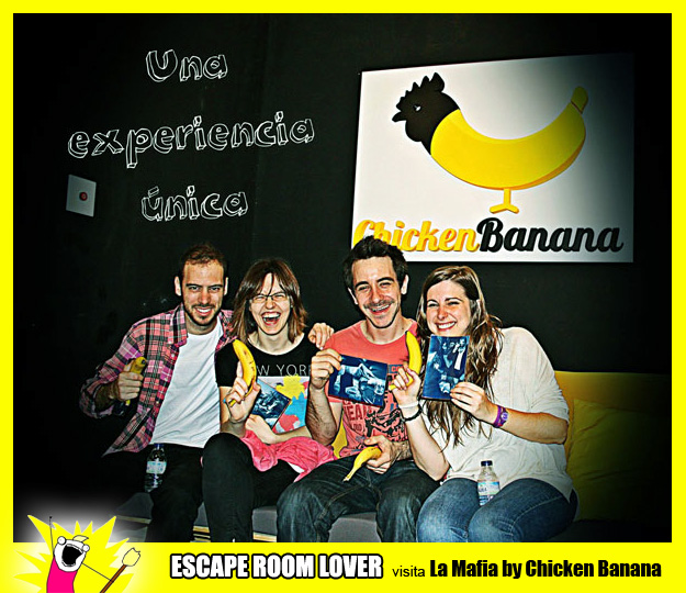 "Opinión sobre escape room: Chicken Banana ""La mafia"" - Barcelona"