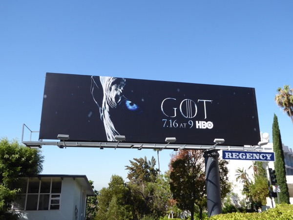 Game of Thrones season 7 billboard