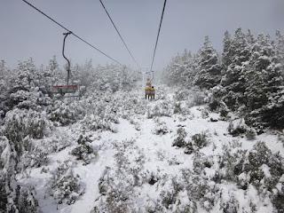 Paisagem de cima do teleferico do Cerro Campanario