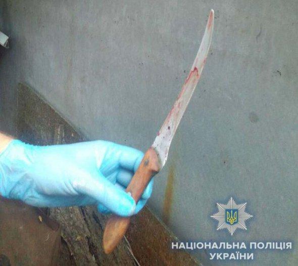 Безхатько з ножем напав на 72-річну жінку