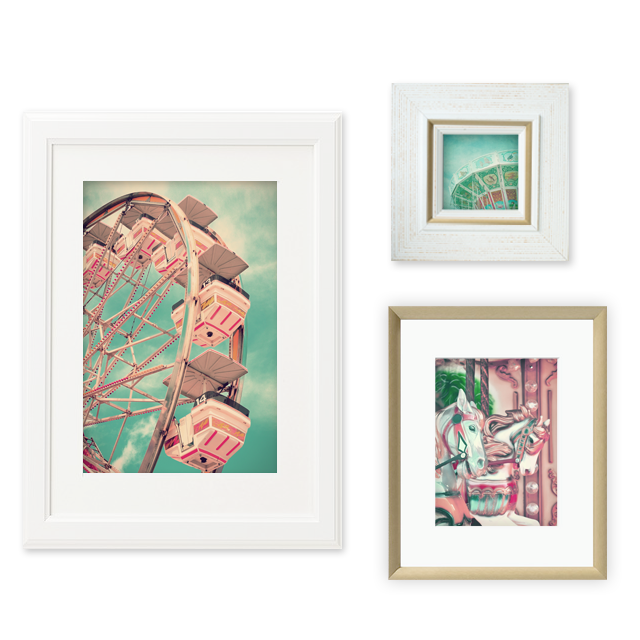 Download my 3 vintage carnival prints — these colorful prints are perfect for use in your gallery walls on even just a stand alone art print.