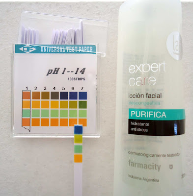 pH de locion facial Extra Care Anti Stress de Lab Farmacity