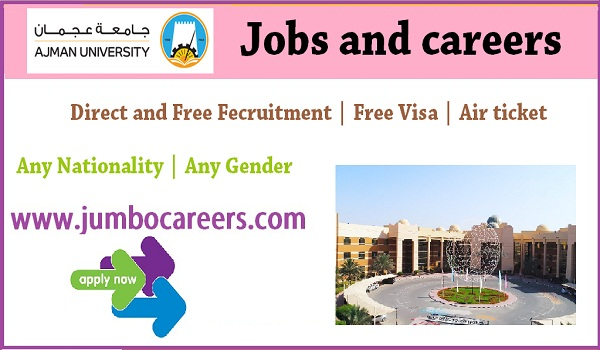 Direct free recruitment jobs in Ajman, Ajman jobs for Indians,