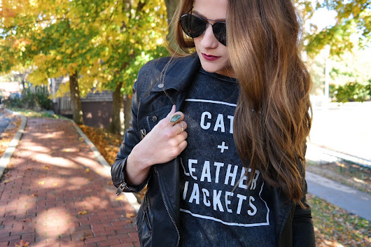 Cats + Leather Jackets