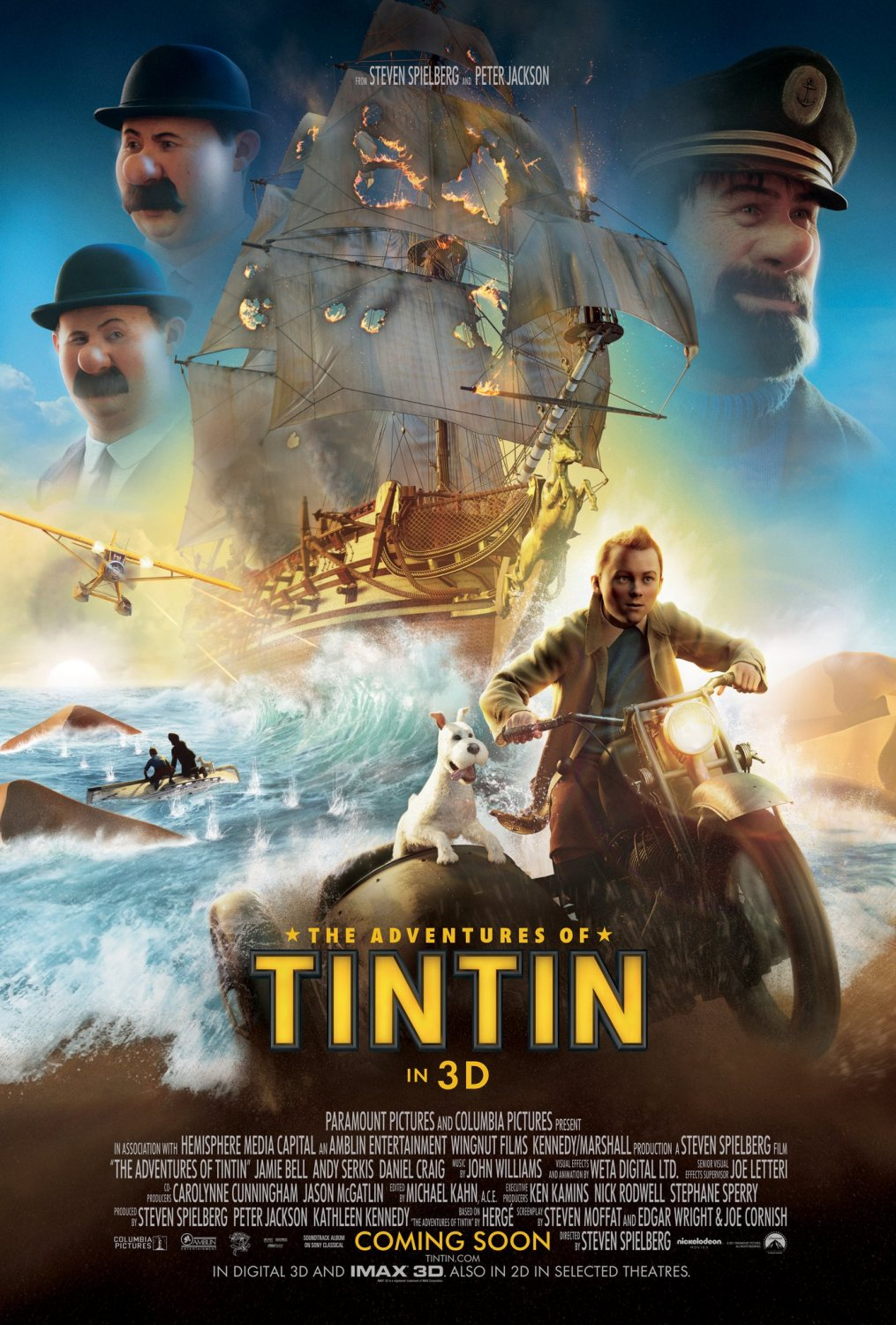 Nonton Film The Adventures of Tintin: The Secret of the Unicorn (2011)