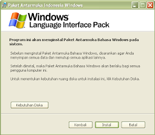 Cara Merubah Bahasa Indonesia di Windows XP