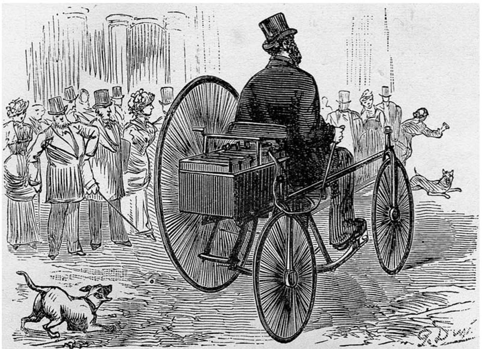Gustave Trouvé's tricycle (1881), world's first electric car.