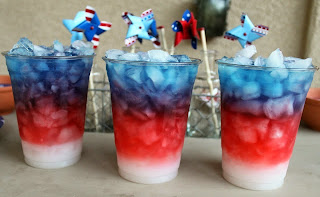 memorial day party drink red white and blue patriotism america flag alcohol celebrate