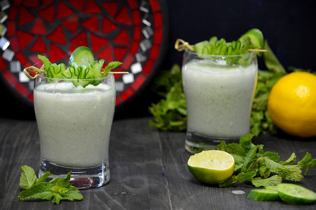 Cucumber Doogh ~ Afghan Yogurt Drink