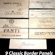 Wooden Wine Case Border Panels (Classic)