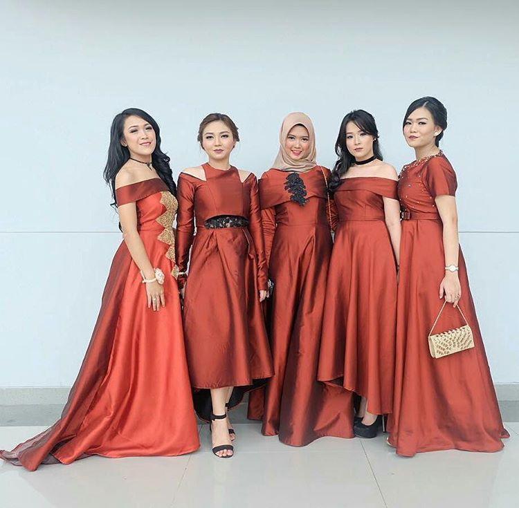 Model Dress Kain Satin Gamis Kekinian 2019