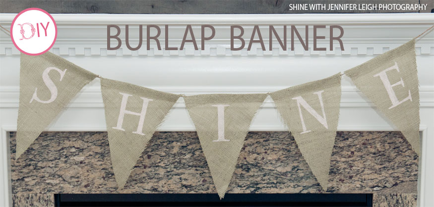 This DIY burlap banner is perfect party decor