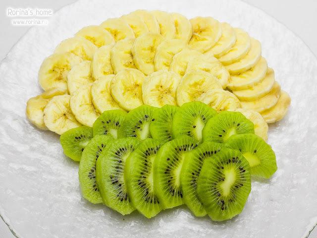 Фруктовая тарелка киви-банан