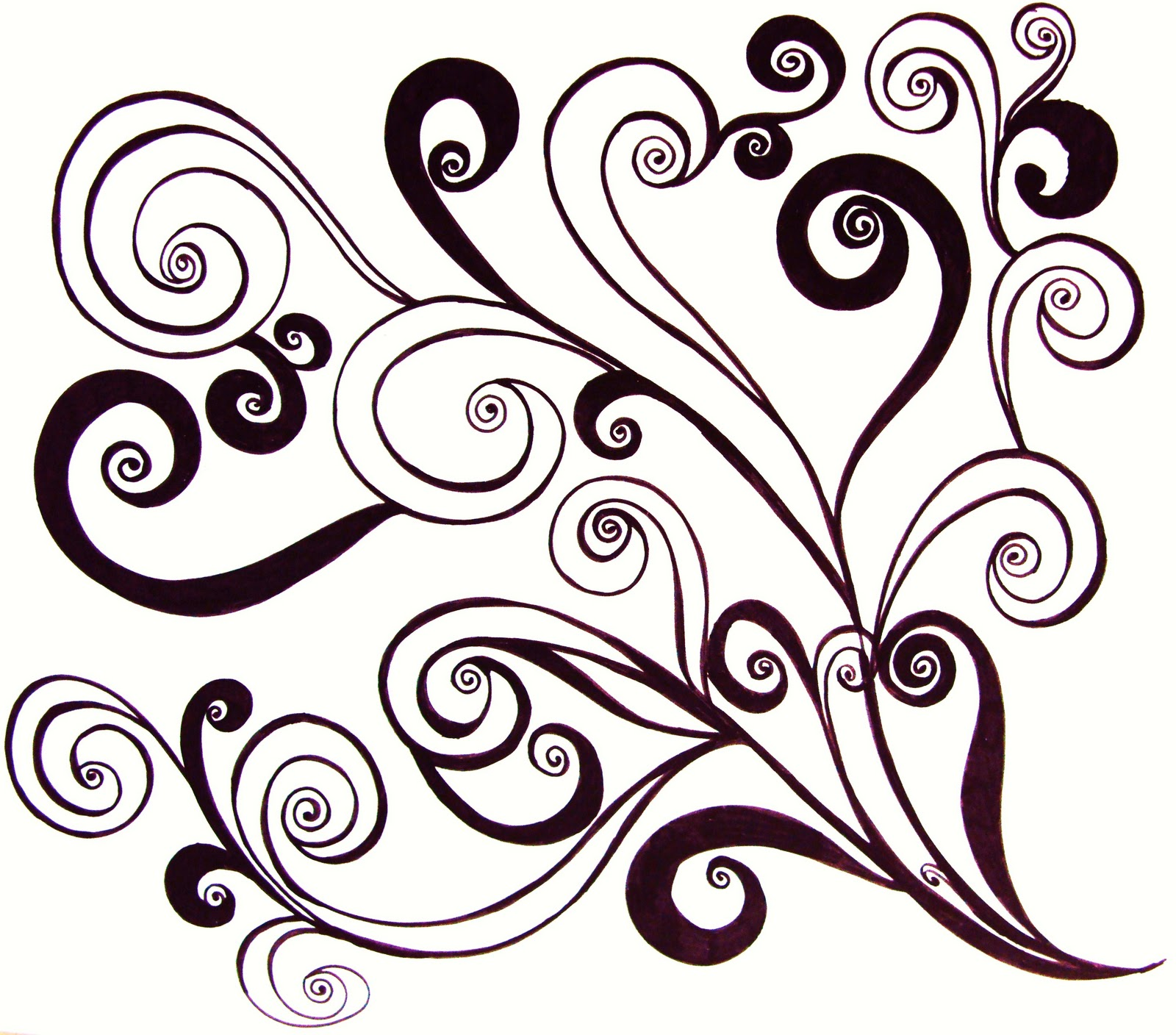 Enjoy these free printable flower swirl coloring pages for adults! Calming and fun!