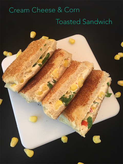 Cream Cheese & Corn Toasted Sandwich
