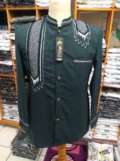 jasko bahan wool motif bordir surban warna abu-abu