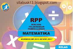 Rpp Matematika Kelas 1 Sd/Mi Kurikulum 2013 Revisi 2017
