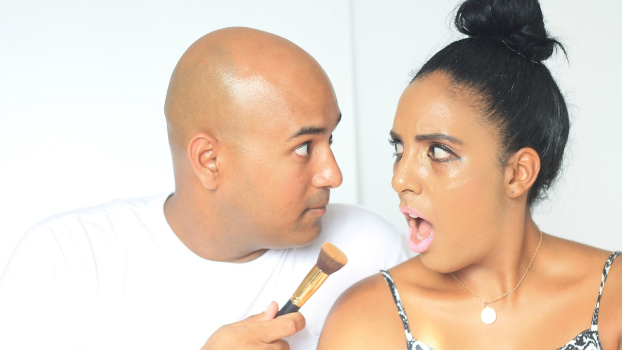 husband does my makeup challenge, makeup, challenge, youtube challenge, video blogger, south african video, south african blogger, blogging girl, makeup challenge, video tag, husband, makeup artisit