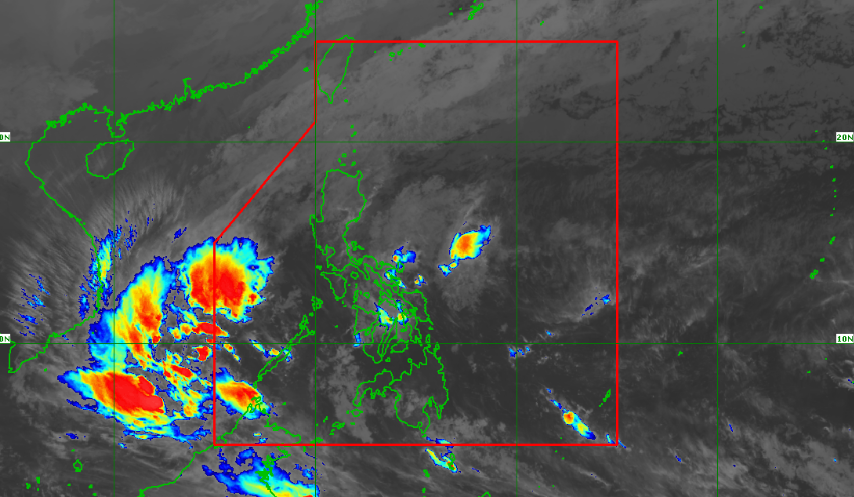 Satellite image of the low pressure area (formerly Usman) as of 6:20 am, December 31, 2018